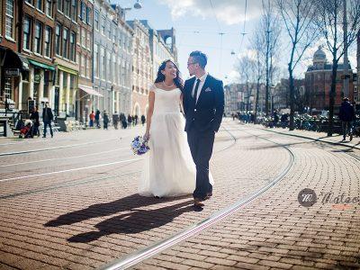 pre wedding in Amsterdam