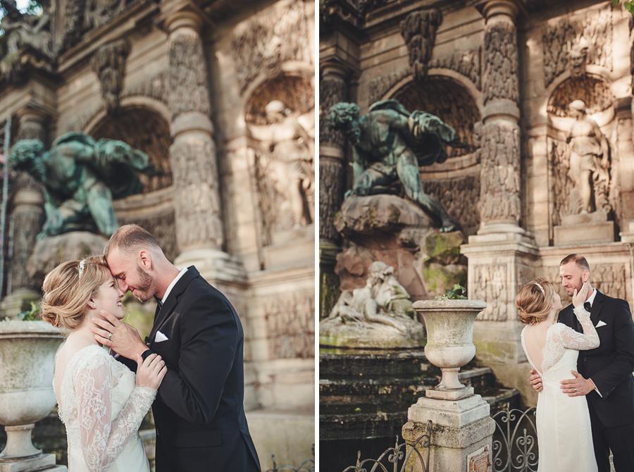 elopement in paris, luxembourg garden