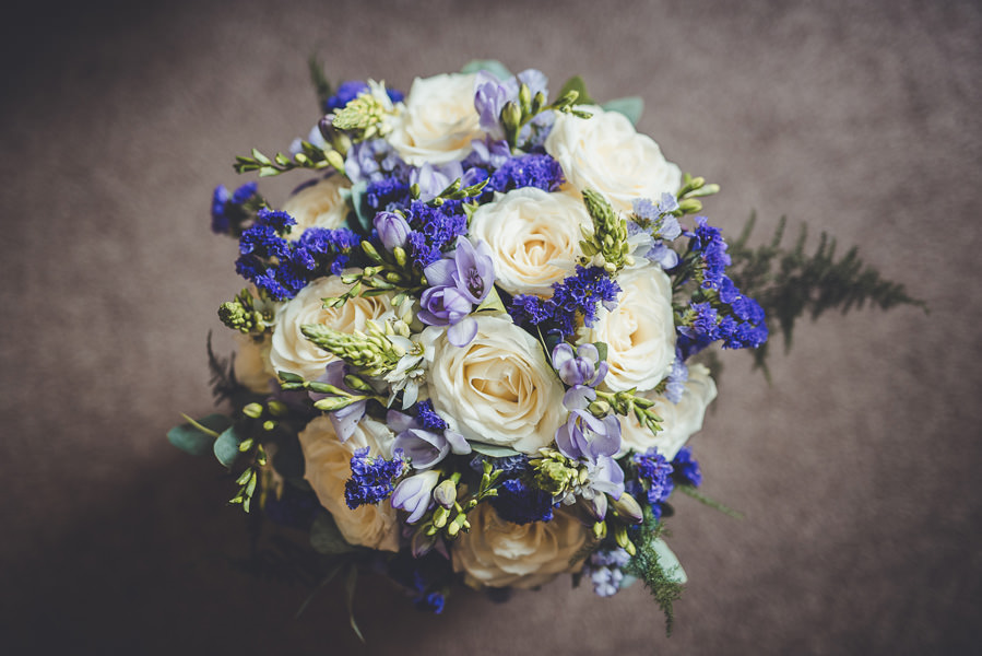 a wedding bouquet, something blue